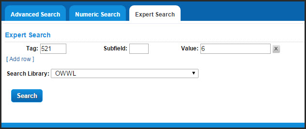 Example expert search by tag 521