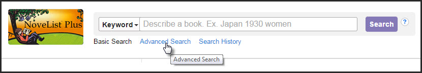Novelist advanced search link